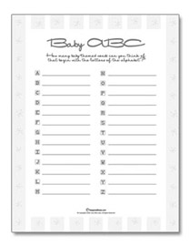 pics photos baby abc free baby shower game