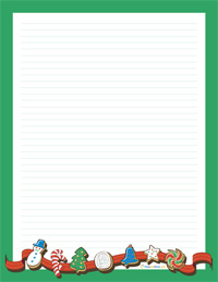 Free Printable Christmas Writing Paper | New Calendar Template Site
