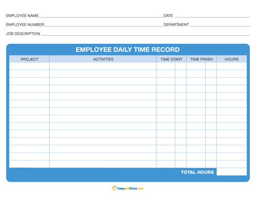 Daily Time Record | KeepandShare