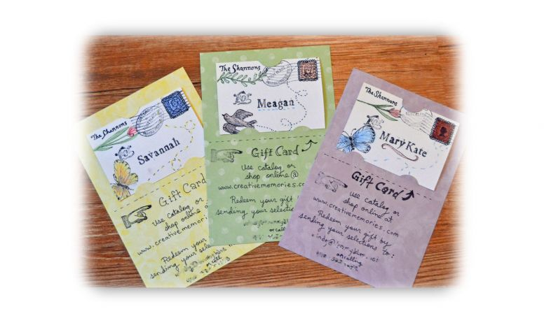The Story of a Seamstress: Homemade Gift-Cards
