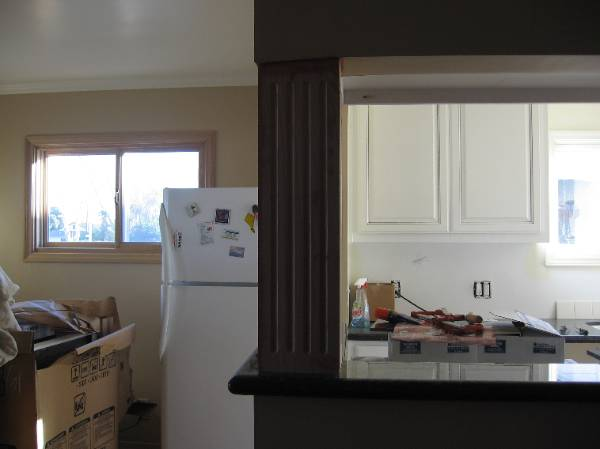 More Kitchen And Living Room Wooden Pillar Remodeling 6