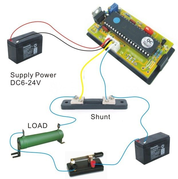 Up A Sw Wiring Diagram on How To Wire Dc Amp Meter With Shunt